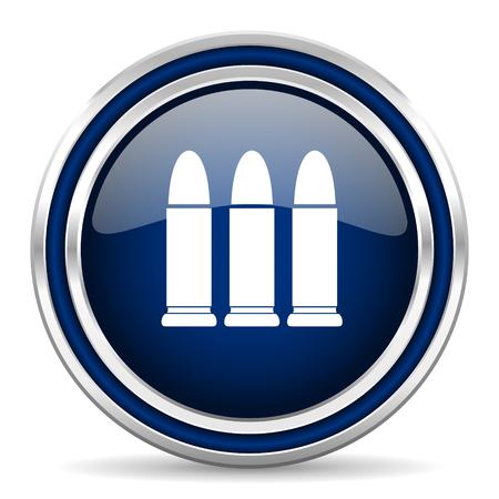 ammunition: ammunition blue glossy web icon Stock Photo