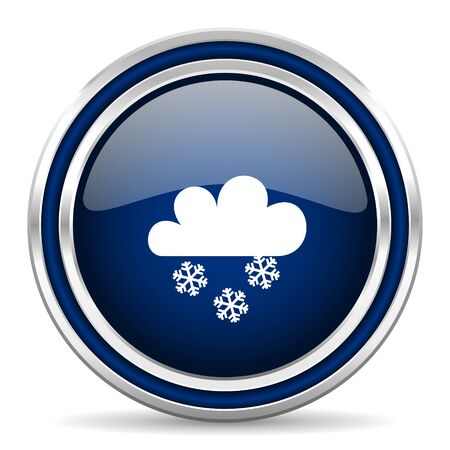 snowing: snowing blue glossy web icon Stock Photo