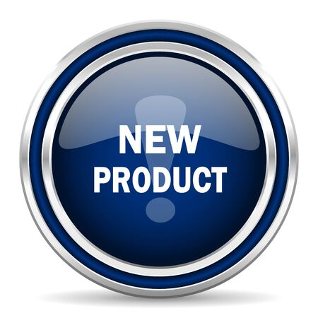 new product: new product blue glossy web icon