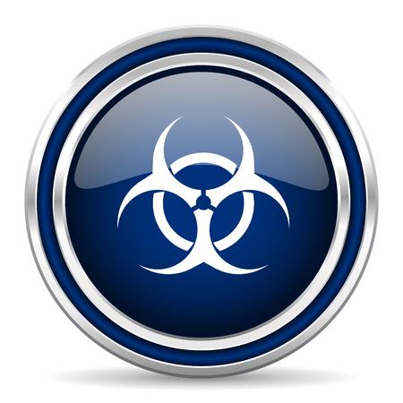 varez: biohazard blue glossy web icon