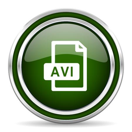 avi: avi file green glossy web icon