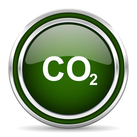 dioxido de carbono: el dióxido de carbono icono web brillante Foto de archivo