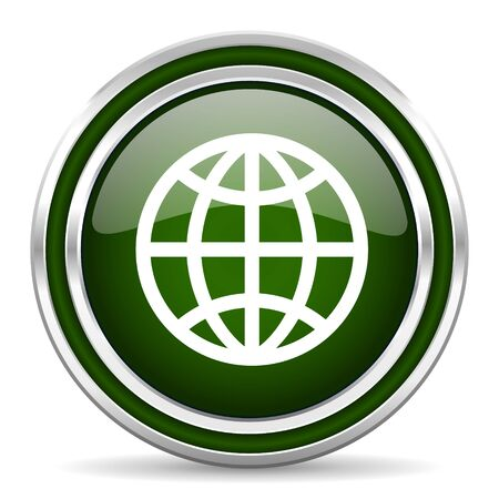 parallel world: earth green glossy web icon