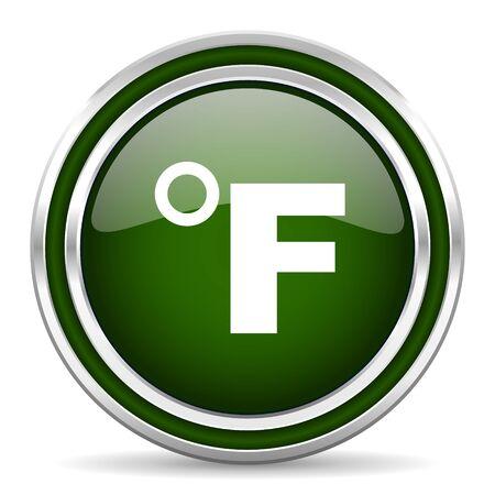 celcius: fahrenheit green glossy web icon