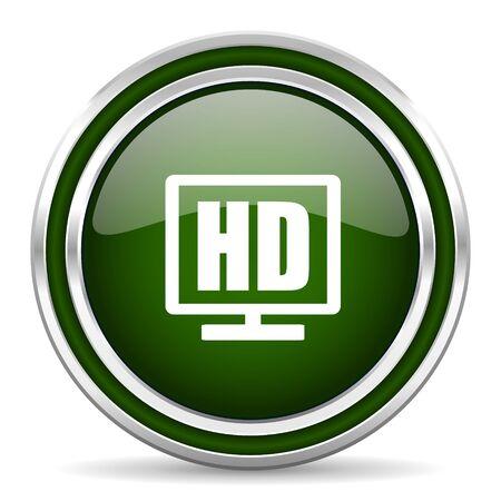 programm: hd display green glossy web icon