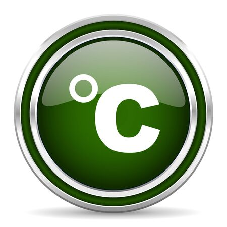 celcius: celsius green glossy web icon