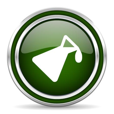 green chemistry: chemistry green glossy web icon Stock Photo