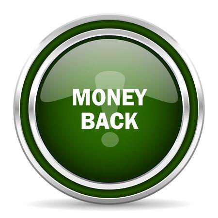 money back: money back green glossy web icon Stock Photo