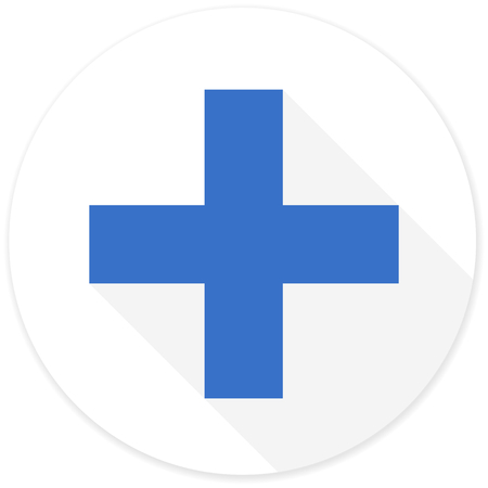 pathology pharmacy: plus flat design modern icon with long shadow for web and mobile app