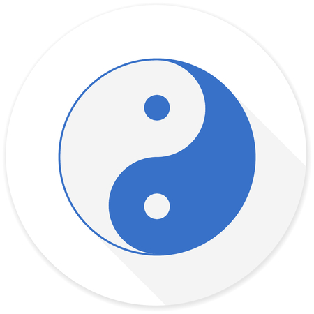 ying and yang: ying yang flat design modern icon with long shadow for web and mobile app Stock Photo