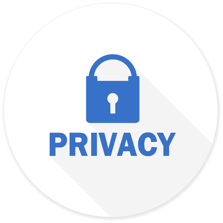 private access: privacy flat design modern icon with long shadow for web and mobile app