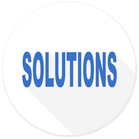 mobile solutions: solutions flat design modern icon with long shadow for web and mobile app Stock Photo
