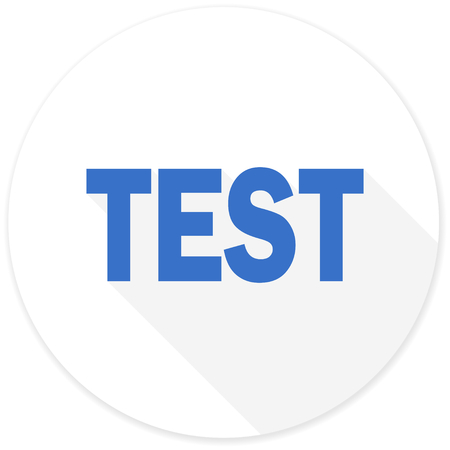 test probe: test flat design modern icon with long shadow for web and mobile app Stock Photo