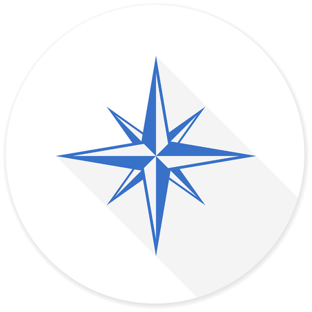 geodesy: compass flat design modern icon with long shadow for web and mobile app Stock Photo