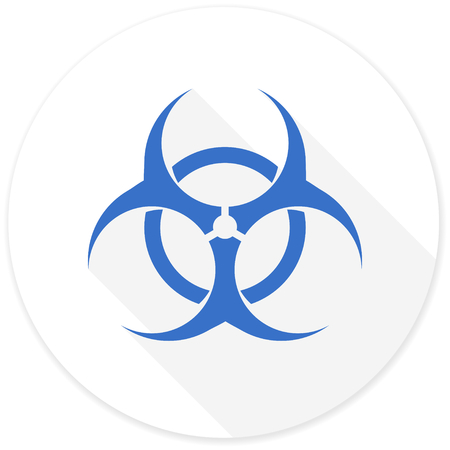 bacterioa: biohazard flat design modern icon with long shadow for web and mobile app Stock Photo