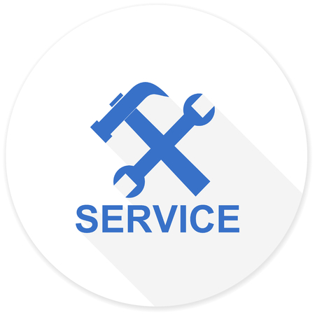 technological and communication: service flat design modern icon with long shadow for web and mobile app