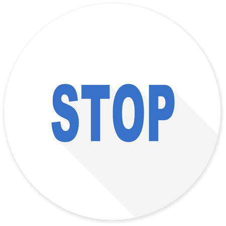 proscribed: stop flat design modern icon with long shadow for web and mobile app Stock Photo