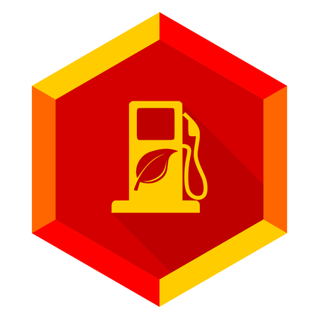 biodiesel plant: biofuel flat design modern icon with long shadow for web and mobile app