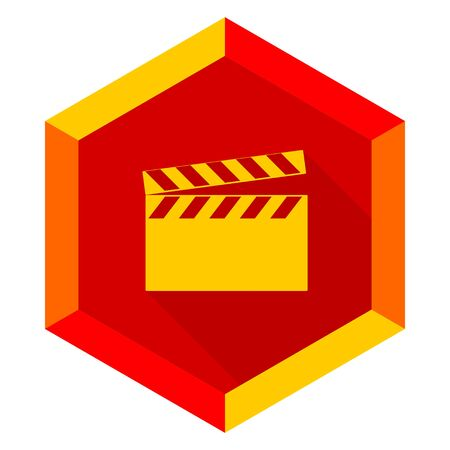 directors cut: video flat design modern icon with long shadow for web and mobile app