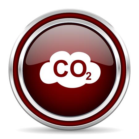 dioxido de carbono: dióxido de carbono icono rojo brillante Web