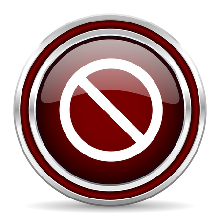 denied: access denied red glossy web icon Stock Photo