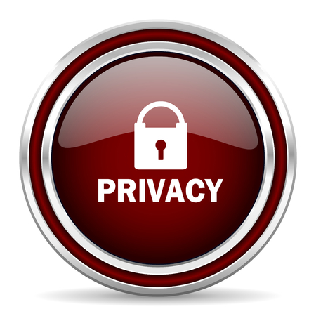 private access: privacy red glossy web icon Stock Photo