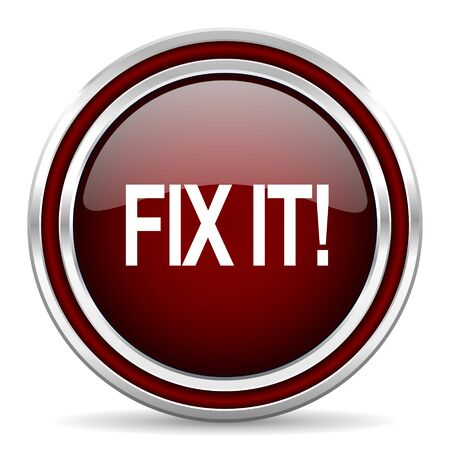 it: fix it red glossy web icon