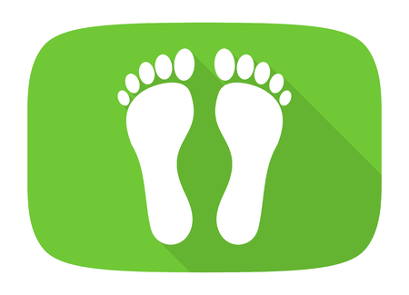 massage symbol: foot flat design modern icon with long shadow for web and mobile app