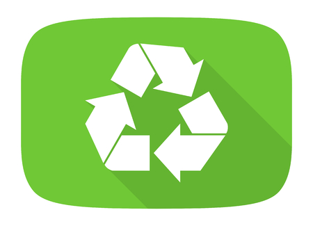 application recycle: recycle flat design modern icon with long shadow for web and mobile app Stock Photo