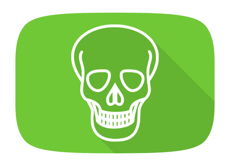 pirating: skull flat design modern icon with long shadow for web and mobile app