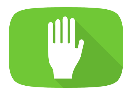 coachman: stop flat design modern icon with long shadow for web and mobile app Stock Photo