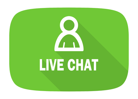 Chatter: live chat flat design modern icon with long shadow for web and mobile app