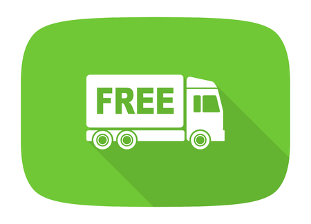 deliverance: free delivery flat design modern icon with long shadow for web and mobile app