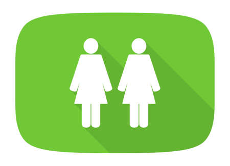 homosexual: Homosexual couple flat design modern icon with long shadow for web and mobile app Stock Photo