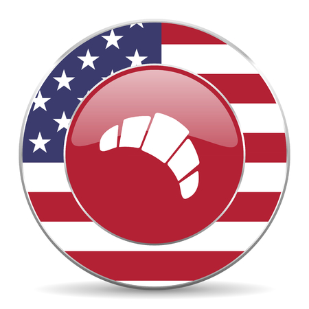 traditionally american: croissant icon Stock Photo