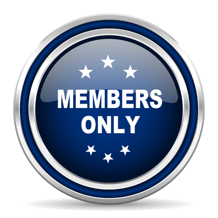 members only icon Stock Photo