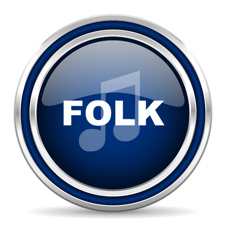 listen live stream: folk music icon Stock Photo