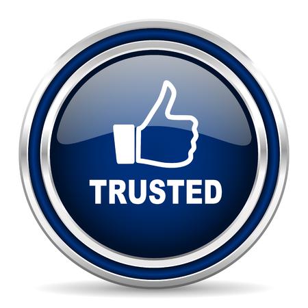 vertrouwde pictogram Stockfoto