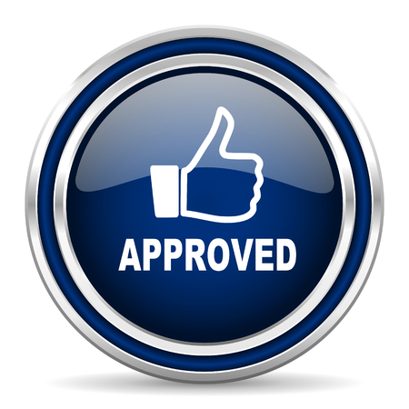 approved: approved icon Stock Photo