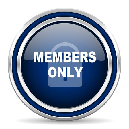 members: members only icon Stock Photo