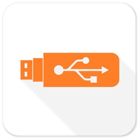 usb pendrive: usb flat icon