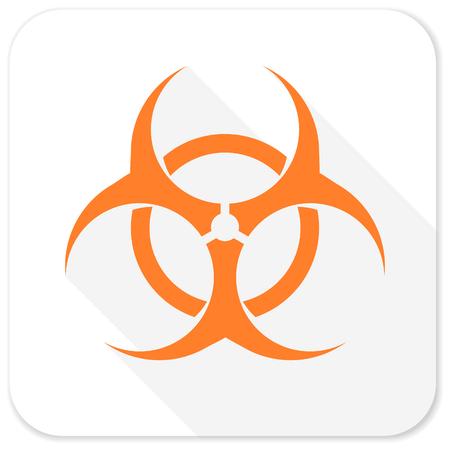 poison symbol: biohazard flat icon Stock Photo