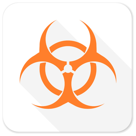 biological hazards: biohazard flat icon Stock Photo
