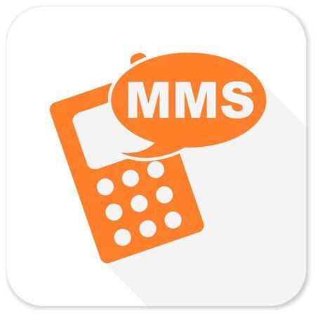 mms: mms flat icon Stock Photo