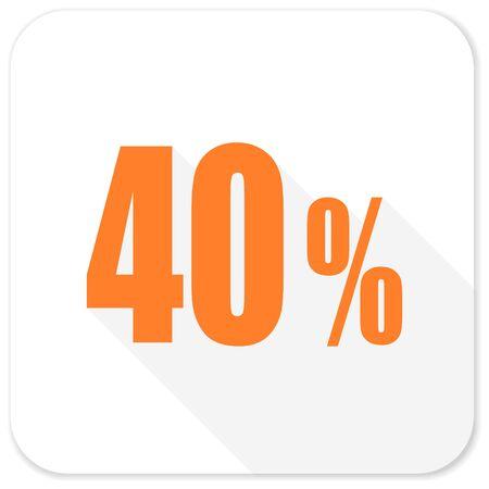 40: 40 percent flat icon Stock Photo