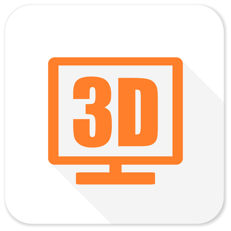 3d: 3d display flat icon Stock Photo