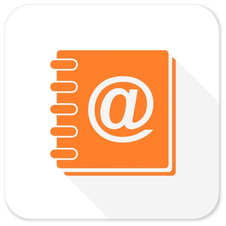 address book: address book flat icon
