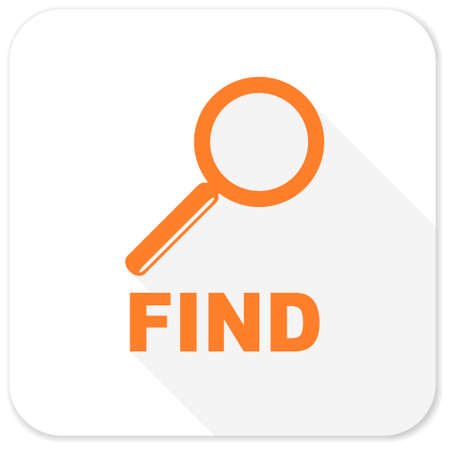 magnification icon: find flat icon