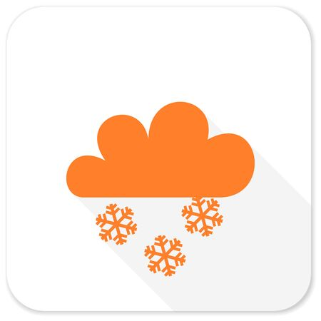snowing: snowing flat icon Stock Photo