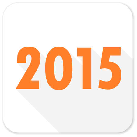 new beginnings: new year 2015 flat icon